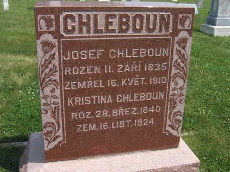 CHLEBOUN, JOSEF - Johnson County, Iowa | JOSEF CHLEBOUN