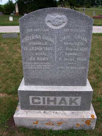 CIHAK, JAN - Johnson County, Iowa | JAN CIHAK