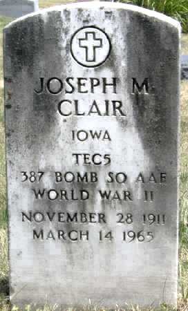 CLAIR, JOSEPH M - Johnson County, Iowa | JOSEPH M CLAIR