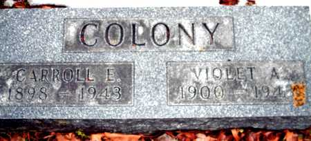 COLONY, VIOLET A. - Johnson County, Iowa | VIOLET A. COLONY