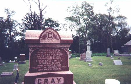 CRAY, ZEPHANIAH STOUT AND LOUISA ANN (SWEET) - Johnson County, Iowa   ZEPHANIAH STOUT AND LOUISA ANN (SWEET) CRAY