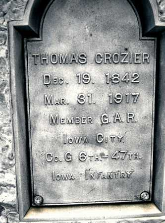 CROZIER, THOMAS - Johnson County, Iowa | THOMAS CROZIER