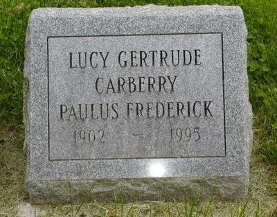 CARBERRY FREDERICK, LUCY GERTRUDE - Johnson County, Iowa | LUCY GERTRUDE CARBERRY FREDERICK