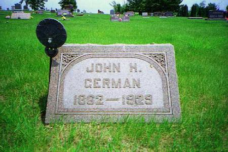 GERMAN, JOHN HENRY - Johnson County, Iowa | JOHN HENRY GERMAN