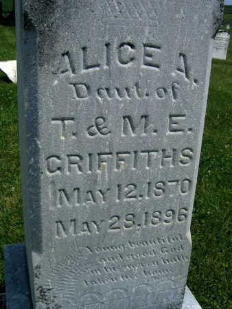 GRIFFITHS, ALICE A. - Johnson County, Iowa   ALICE A. GRIFFITHS