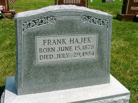 HAJEK, FRANK - Johnson County, Iowa | FRANK HAJEK