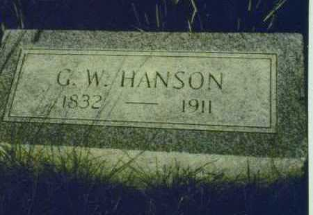 HANSON, G. W. - Johnson County, Iowa | G. W. HANSON