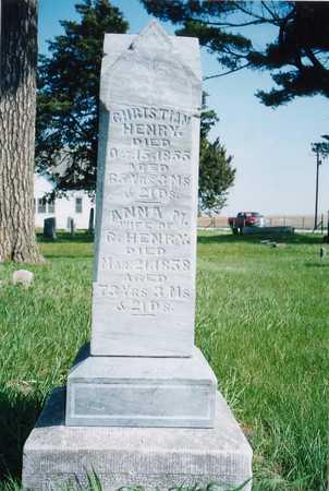 HENRY, CHRISTIAN - Johnson County, Iowa   CHRISTIAN HENRY