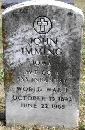 IMMING, JOHN - Johnson County, Iowa | JOHN IMMING