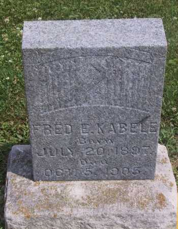 KABELE, FRED E - Johnson County, Iowa | FRED E KABELE