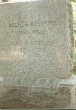 KESSLER, DR. JOHN B. AND ALLIE A. - Johnson County, Iowa   DR. JOHN B. AND ALLIE A. KESSLER