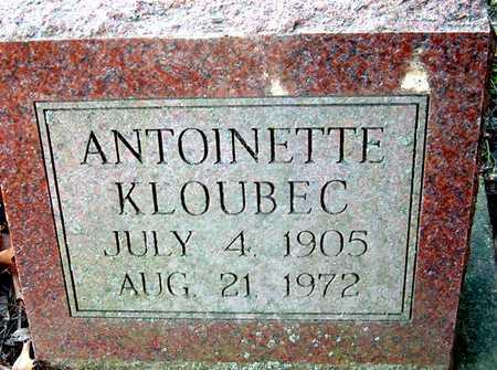 KLOUBEC, ANTOINETTE - Johnson County, Iowa | ANTOINETTE KLOUBEC