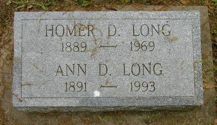 LONG, HOMER D - Johnson County, Iowa | HOMER D LONG