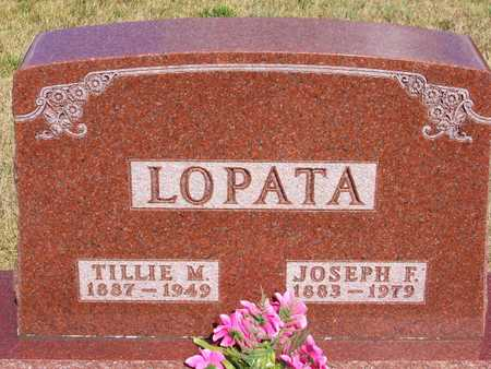 SERBOUSEK LOPATA, TILLIE - Johnson County, Iowa | TILLIE SERBOUSEK LOPATA
