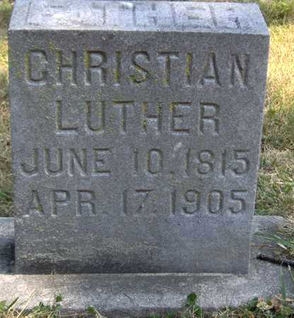 LUTHER, CHRISTIAN - Johnson County, Iowa | CHRISTIAN LUTHER