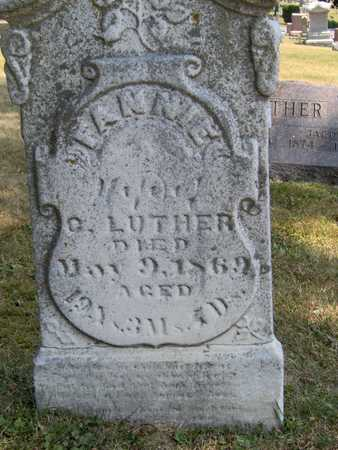 LUTHER, FANNIE - Johnson County, Iowa | FANNIE LUTHER