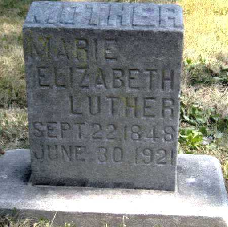LUTHER, MARIE ELIZABETH - Johnson County, Iowa | MARIE ELIZABETH LUTHER