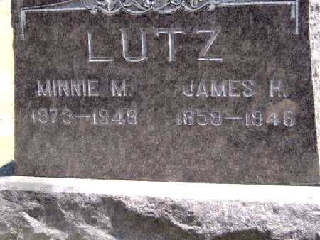 LUTZ, JAMES H - Johnson County, Iowa | JAMES H LUTZ