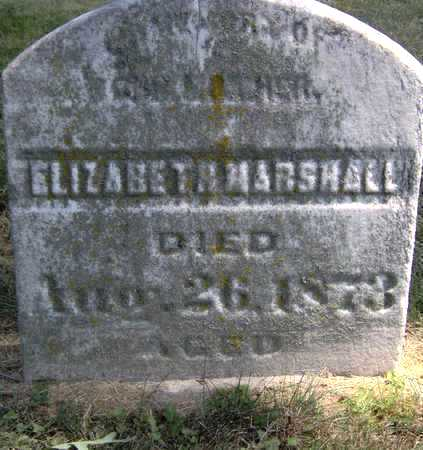 MARSHALL, ELIZABETH - Johnson County, Iowa | ELIZABETH MARSHALL