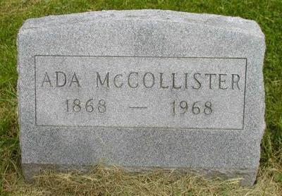 MCCOLLISTER, ADA - Johnson County, Iowa | ADA MCCOLLISTER