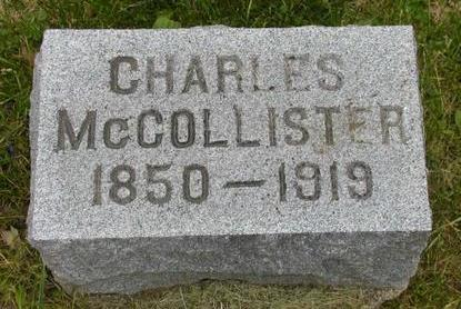 MCCOLLISTER, CHARLES - Johnson County, Iowa | CHARLES MCCOLLISTER