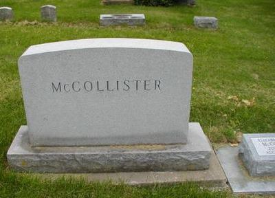 MCCOLLISTER, MONUMENT - Johnson County, Iowa | MONUMENT MCCOLLISTER