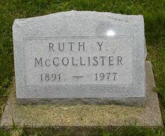 MCCOLLISTER, RUTH Y - Johnson County, Iowa | RUTH Y MCCOLLISTER