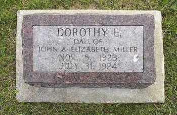 MILLER, DOROTHY E. - Johnson County, Iowa   DOROTHY E. MILLER