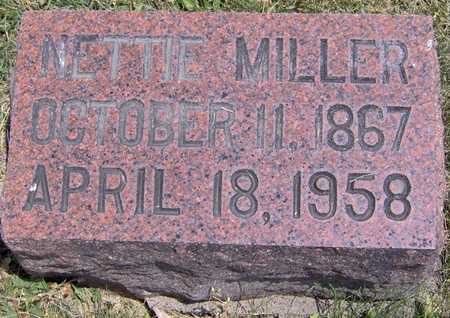 MILLER, NETTIE - Johnson County, Iowa | NETTIE MILLER