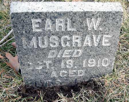 MUSGRAVE, EARL W - Johnson County, Iowa   EARL W MUSGRAVE