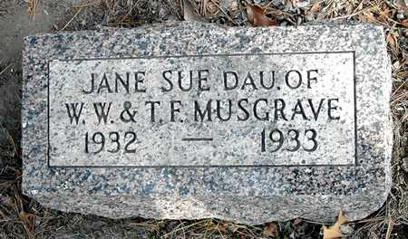 MUSGRAVE, JANE SUE - Johnson County, Iowa | JANE SUE MUSGRAVE