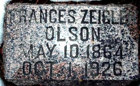 OLSON, FRANCES ZEIGLER - Johnson County, Iowa   FRANCES ZEIGLER OLSON