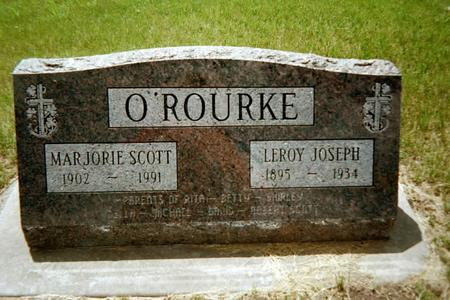 LAWLER O'ROURKE-SCOTT, MARJORIE - Johnson County, Iowa | MARJORIE LAWLER O'ROURKE-SCOTT
