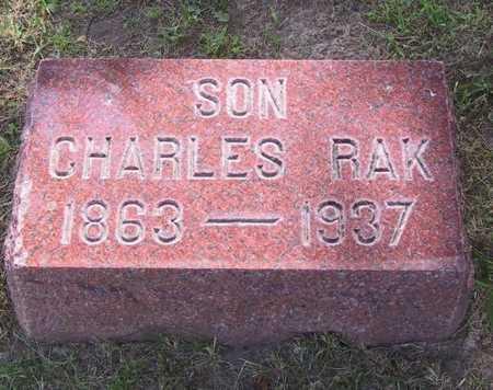 RAK, CHARLES - Johnson County, Iowa   CHARLES RAK