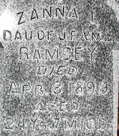 RAMSEY, ZANNA I - Johnson County, Iowa | ZANNA I RAMSEY