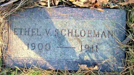 SCHLOEMAN, ETHEL V - Johnson County, Iowa | ETHEL V SCHLOEMAN