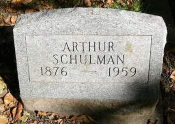 SCHULMAN, ARTHUR - Johnson County, Iowa | ARTHUR SCHULMAN