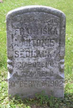 SEDLACEK, FRANTISKA A ANTONIE - Johnson County, Iowa | FRANTISKA A ANTONIE SEDLACEK