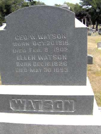 WATSON, GEO W - Johnson County, Iowa | GEO W WATSON