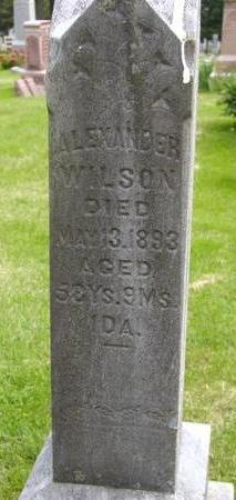 WILSON, ALEXANDER - Johnson County, Iowa | ALEXANDER WILSON