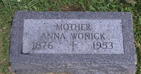 WONICK, ANNA - Johnson County, Iowa | ANNA WONICK