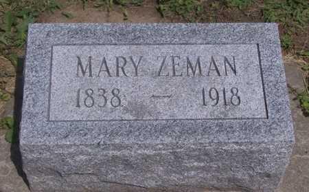 ZEMAN, MARY - Johnson County, Iowa | MARY ZEMAN