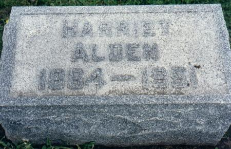 ALDEN, HARRIET - Jones County, Iowa | HARRIET ALDEN