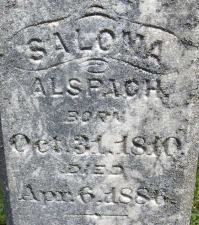 ALSPACH, SALOMA - Jones County, Iowa | SALOMA ALSPACH