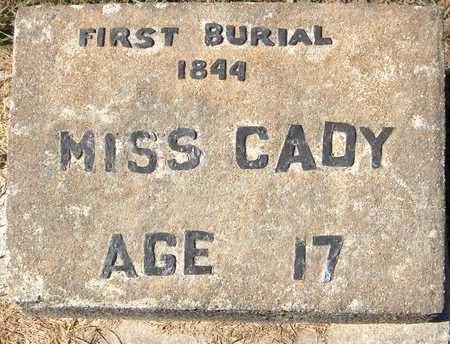 CADY, MISS - Jones County, Iowa | MISS CADY