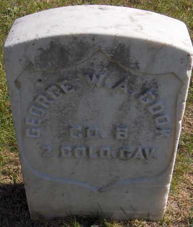 COOK, GEORGE W.A. - Jones County, Iowa   GEORGE W.A. COOK