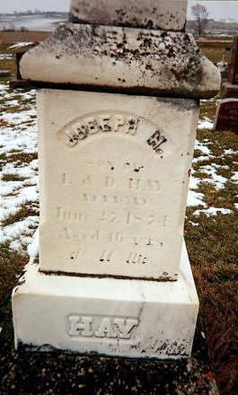 HAY, JOSEPH H. - Jones County, Iowa   JOSEPH H. HAY