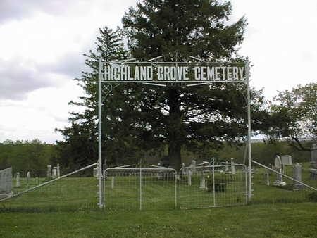HIGHLAND GROVE, CEMETERY - Jones County, Iowa | CEMETERY HIGHLAND GROVE