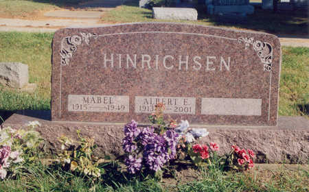 HINRICHSEN, MABEL MARIE - Jones County, Iowa | MABEL MARIE HINRICHSEN