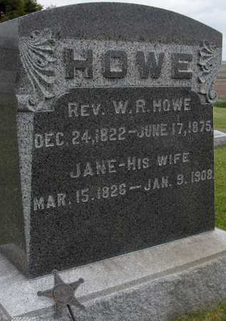 HOWE, REV. W.R. - Jones County, Iowa | REV. W.R. HOWE